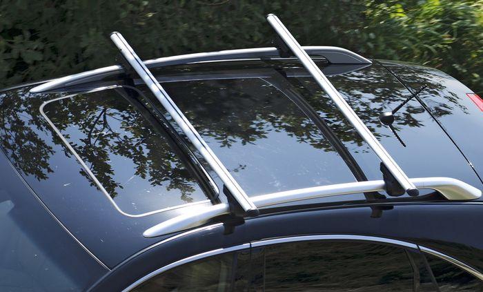 Hausmarke Dachträger Brio m. Aluminiumprofil f. VW Caddy Maxi Life, 5-T MPV Bj. 2015-, m. offener Reling