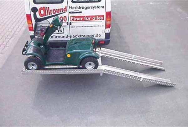 Allround Heckträger für ein Elektromobil Typ UT für d. Anhängerkupplung AHK Heckträger für Elektromobil