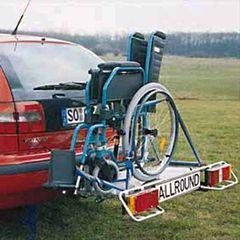 Allround Heckträger für klappbaren Rollstuhl Typ UT für d. Anhängerkupplung AHK Heckträger für Rollstuhl