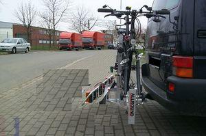 Allround Tandemträger für ein Tandem Typ UT für d. Anhängerkupplung AHK Fahrradträger für Tandemfahrräder