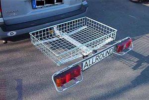 Allround Heckträger m. Transportkorb  Gitterstahl Typ UT für d. Anhängerkupplung AHK Lastenträger