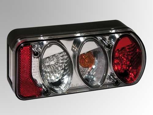 Beleuchtung- AJBA III, Leuchte Lampe rechts, Rauchglas