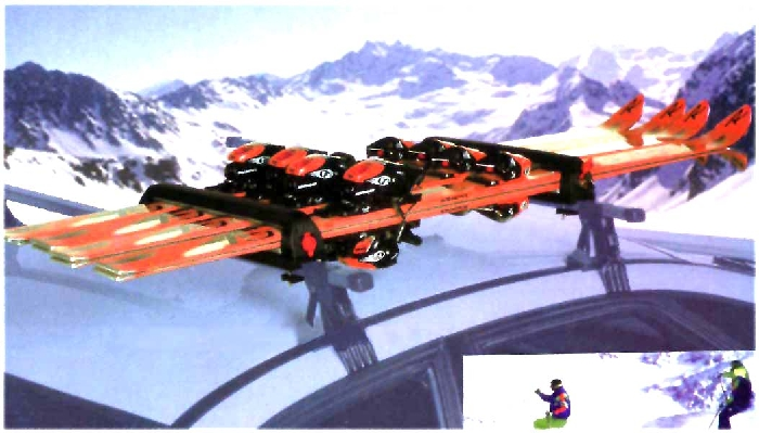 Skihalter Rapid 4 Ski o. 2 Boards