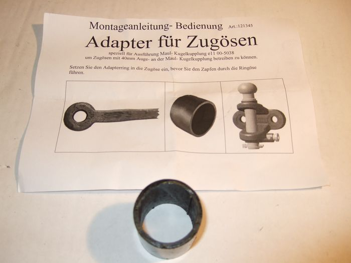 Maul/ Kugelkupplung 28er (90)- automatic- Adapter auf Zugöse 40 mm