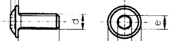 Innensechskantschraube M8x35 Güte 8. 8, vz, 1 Stk.