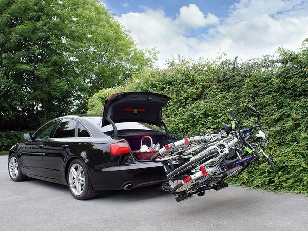 ALUTRANS IMPULS PRO III faltbar f. 3 Fahrräder/ E- Bike AHK Heckträger für E-Bike Elektrofahrrad