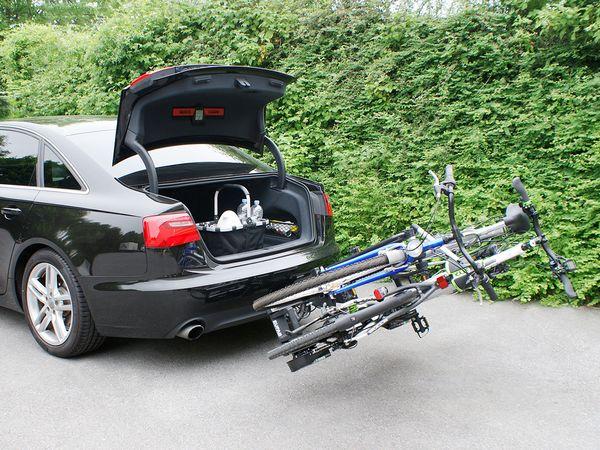 ALUTRANS IMPULS PRO II faltbar f. 2 Fahrräder/ E- Bike AHK Heckträger für E-Bike Elektrofahrrad