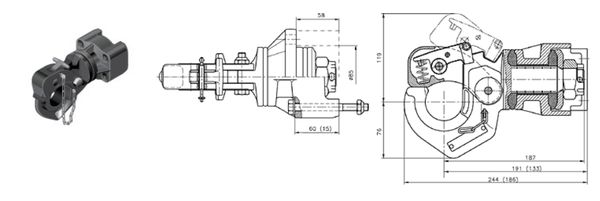 Hakenkupplung/ Natokupplung Rockinger 83x 56, 31kN