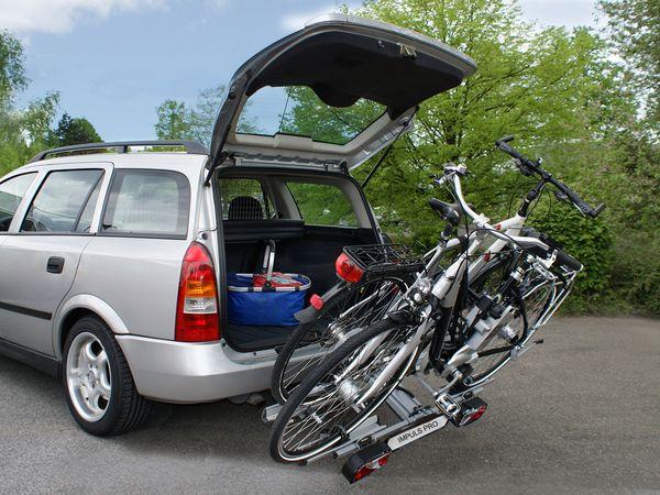 ALUTRANS IMPULS PRO faltbar f. 2 Fahrräder/ E- Bike AHK Heckträger für E-Bike Elektrofahrrad
