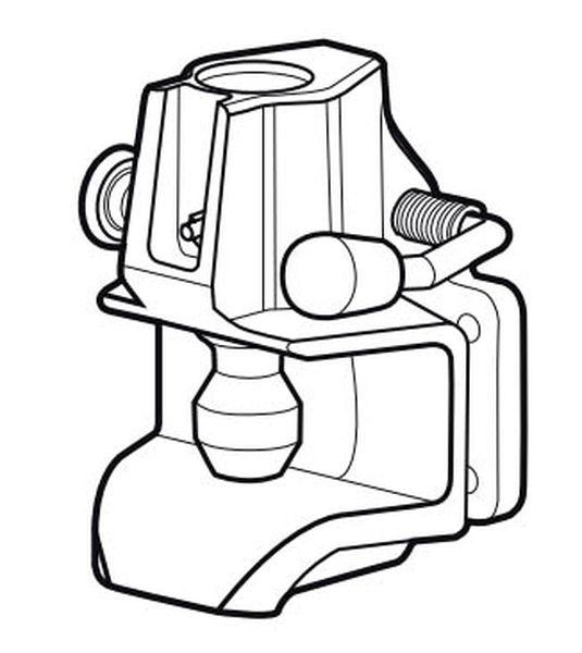 Maulkupplung Rockinger 160x 100mm, 89,3kN, f. Oese 40mm, 30,6 mm Bolzen