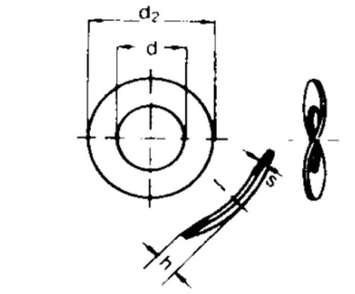 Federscheibe, Durchmesser 10 mm, vz, 1 Stk.