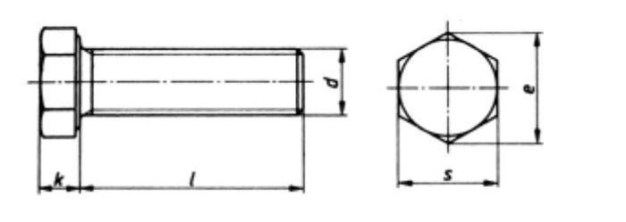 Sechskantschraube M10x100 Teilgewinde, Güte 10. 9, vz, 1 Stk.