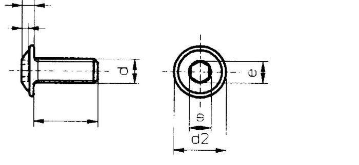 Innensechskantschraube M8x20, Flanschkopf, V2A, 300 Stk.