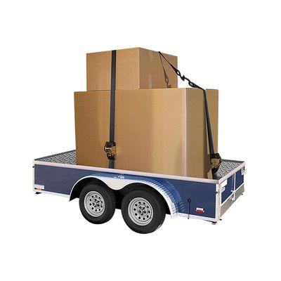 Spanngurt mit Ratsche und Aufrollautomatik, 1,85m lang, 25mm breit, mit 2 Haken, 300kg (12er Pack)