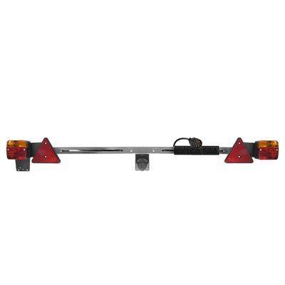 Beleuchtungsleiste Metall 140-200cm ausziehbar + 12M Kabel