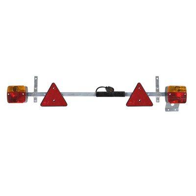 Beleuchtungsleiste Metall 110-160cm ausziehbar + 7, 5M Kabel