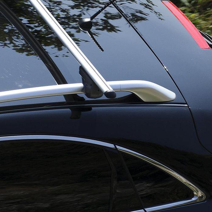 Hausmarke Dachträger m. Aluminiumprofil f. VW Caddy Maxi Life, 5-T MPV Bj. 2015-, m. offener Reling
