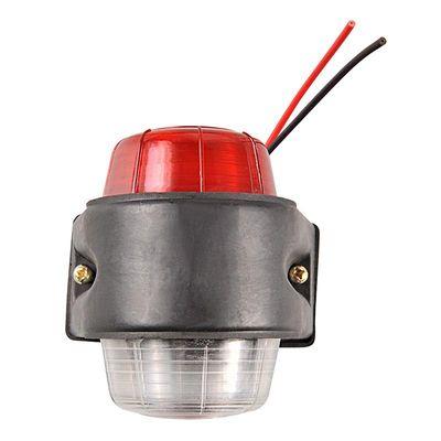 Begrenzungsleuchte rot/weiß 67x78mm flach (30er Pack)