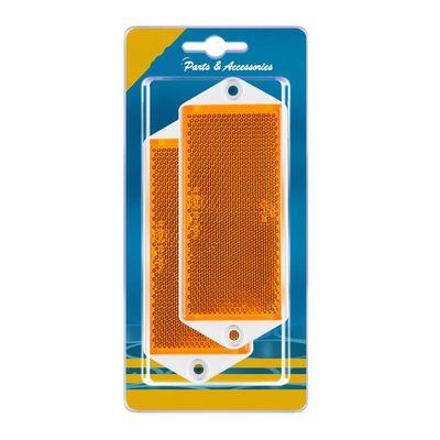 Seitenstrahler, eckig, 90x40 mm zum Schrauben, gelb, 2 Stück