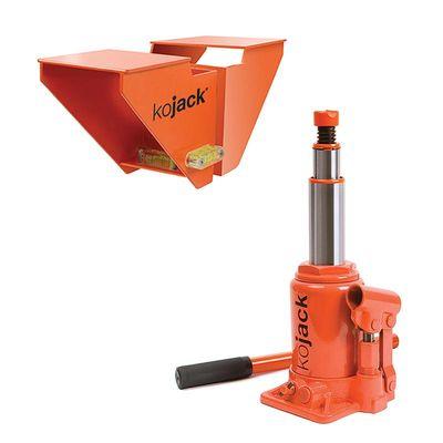 KoJack hydraulischer Wagenheber Wohnwagen, Caravanheber mit Wasserwaage (2er Pack)