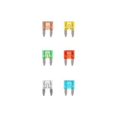 Sicherung, Flachstecksicherungen Mini sortiert 6 Stück