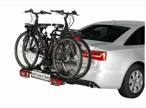 Fahrradträger MFT MULTI-CARGO 2 family, f. 3 Fahrräder für d. Anhängerkupplung AHK Fahrradträger für 3 Fahrräder