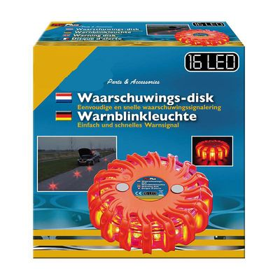 Warnleuchte 16LED orange