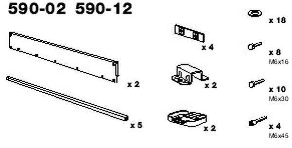 Verlängerungsadapter für Dachkorb Thule Titan, 130 x 80 cm