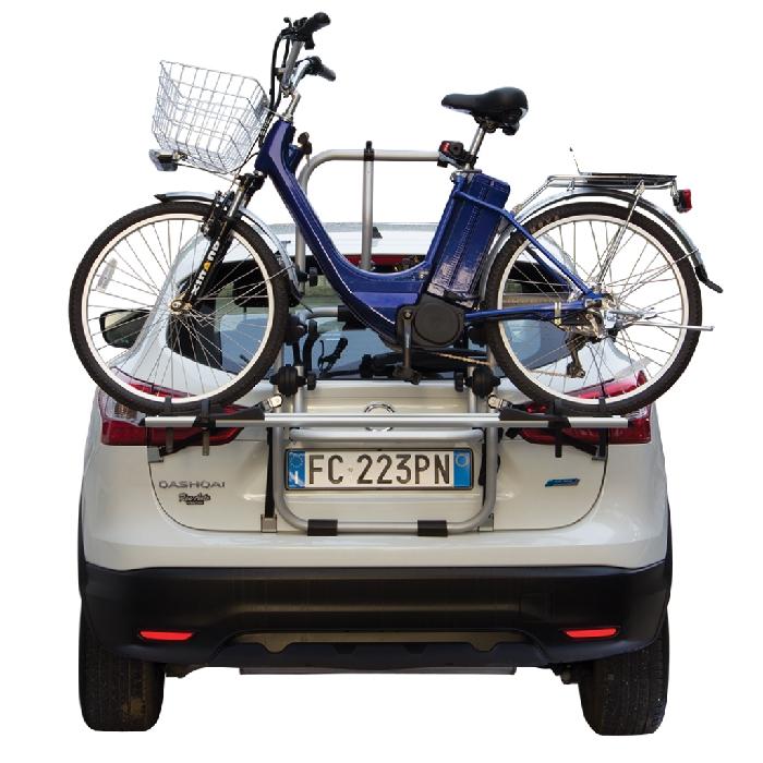 Nissan Note, 5-T Kombi Bj. 2004-2013, Fabbri Fahrradträger f. E- Bike- Elektrofahrrad für Heckträger für Nissan Nissan Note, 5-T Kombi Bj. 2004-2013 Heckträger als 2er E-Bike Träger