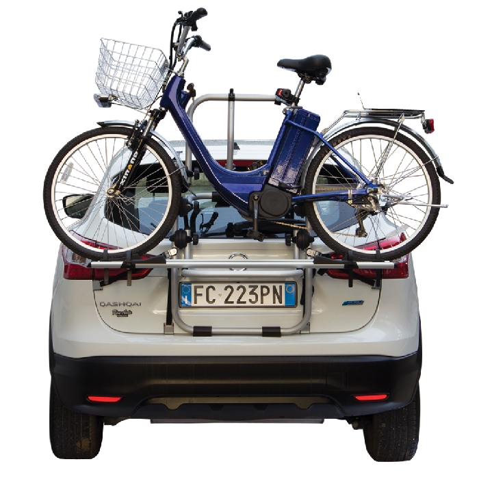 Nissan Micra (K13), 3/5-T Fließheck Bj. 2010-2013, Fabbri Fahrradträger f. E- Bike- Elektrofahrrad für Heckträger für Nissan Nissan Micra (K13), 3/5-T Fließheck Bj. 2010-2013 Heckträger als 2er E-Bike Träger