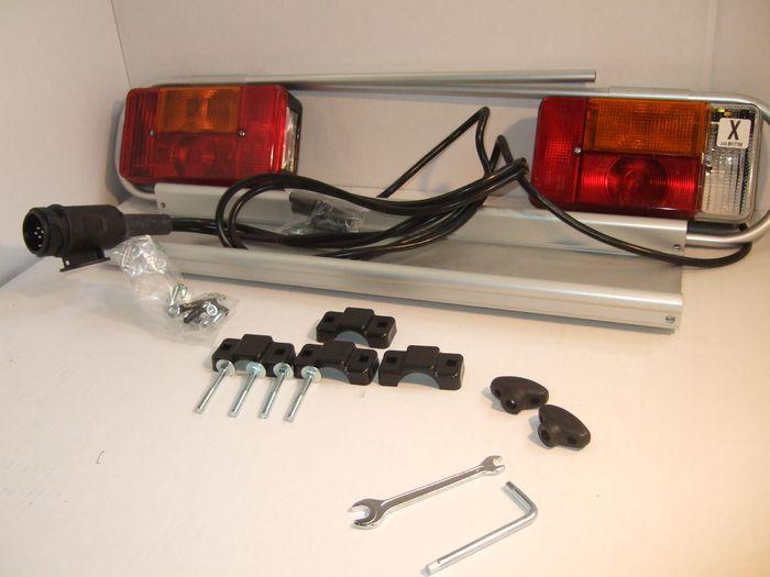 Beleuchtung- Satz Fabbri, verkabelt, incl.  Leuchtenträger, Fabbri Bici First Class