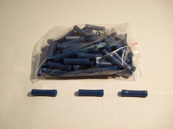 Stoßverbinder, isoliert, blau, 1. 5-2. 5qmm, Lieferumfang 100 Stk.