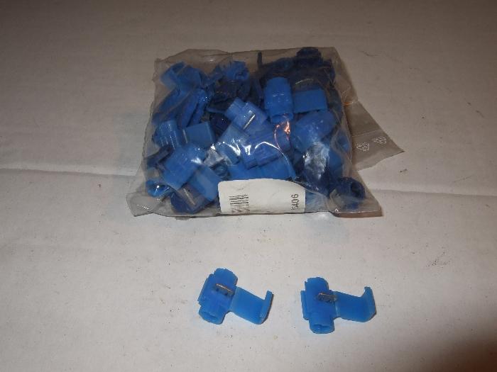 Abzweigverbinder, blau, Lieferumfang 50 Stk.