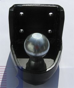 Kugelkopf- Flanschkugel-Kupplungskugel 4-Lochbild 83x 56 mm, mit Kugel 60mm