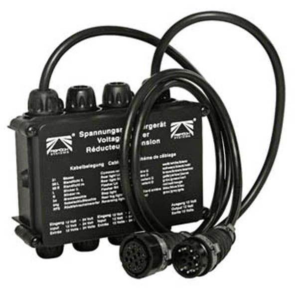 Spannungsreduzierer für den Festeinbau 7P, 24- 12V