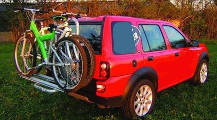 Jeep Wrangler, 5-T Kombi Bj. 2013-2018, Fabbri Gringo Fahrradträger f. 2 Fahrräder für Heckträger für Jeep Jeep Wrangler, 5-T Kombi Bj. 2013-2018 Heckträger als 2er Fahrradträger