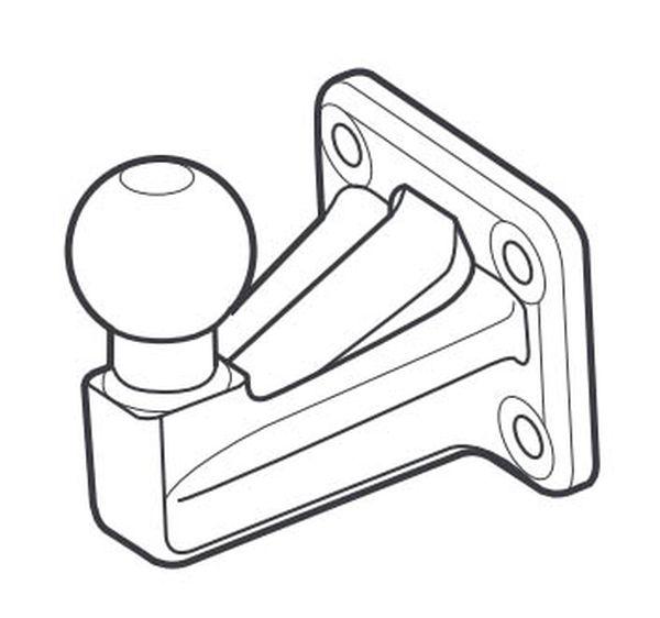 Kugelkopf- Flanschkugel-Kupplungskugel 4- Loch GDW 50V 20mm unter, 23,45kN