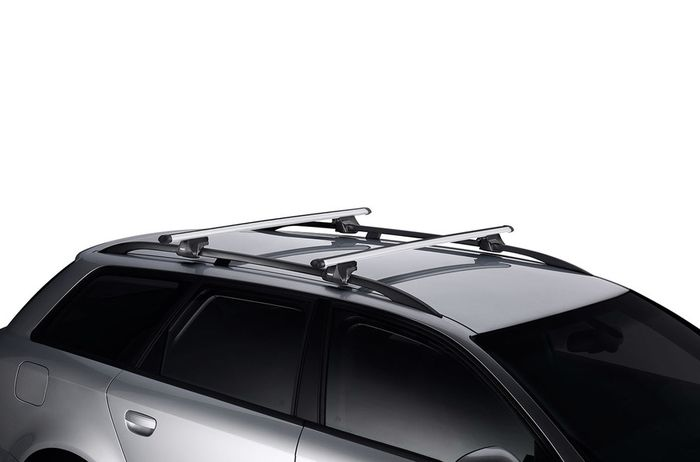 Thule Dachträger m. Aluminiumprofil f. VW Caddy Maxi Life, 5-T MPV Bj. 2015-, m. offener Reling