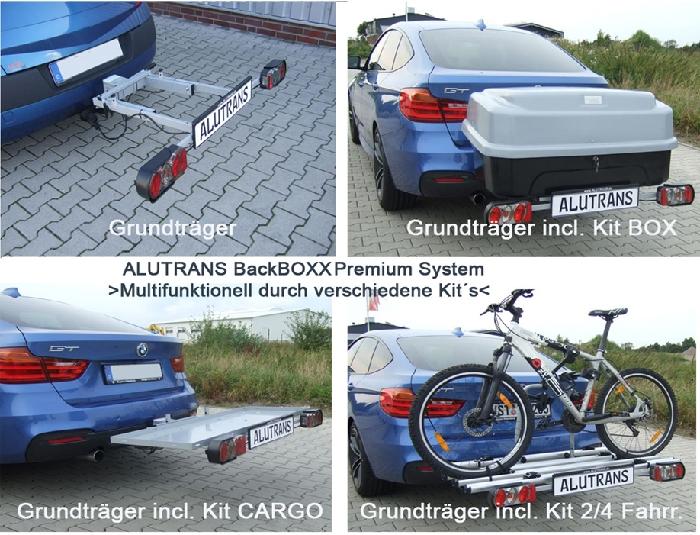 ALUTRANS BackBOXX Premium Komplettsystem Bike 2 für d. Anhängerkupplung AHK Fahrradträger für 2 Fahrräder