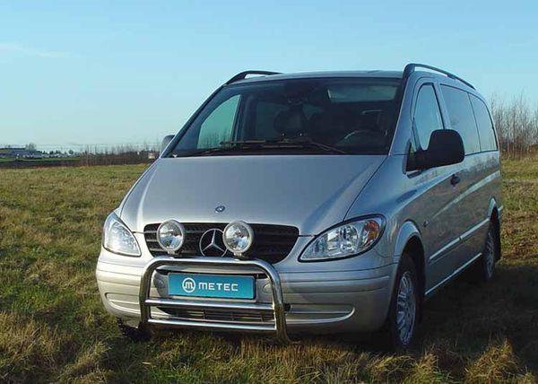 Frontschutzbügel Kuhfänger Bullfänger Mercedes Vito/Viano 2003-2010, EuroBar 60mm Edelstahl