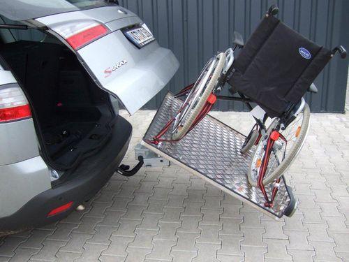 ALUTRANS Heckträger für Rollstuhl Meyra Hurricane für d. Anhängerkupplung AHK Lastenträger