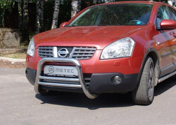 Frontschutzbügel Kuhfänger Bullfänger Nissan Qashqai 2007-2010, EuroBar 60mm Edelstahl
