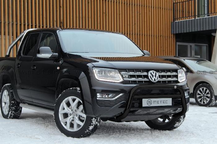 Frontschutzbügel Kuhfänger Bullfänger VW Amarok 2010-2016, EuroBar 70mm schwarz pulverbeschichtet