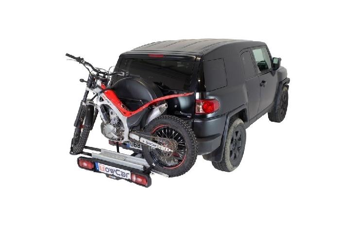 TOWCAR Racing Motorradträger für d. Anhängerkupplung AHK Heckträger für Roller Kleinkraftrad