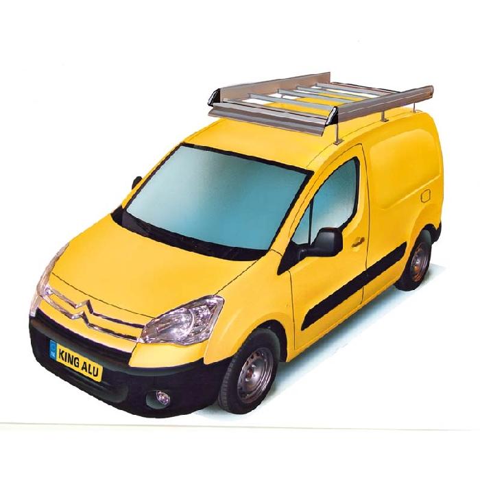 King Ping Dachträger, Gewerbe Transporter für Citroen Berlingo, Radstand 2720mm, Flachdach, mit Hecktüren, Bj. 2007-