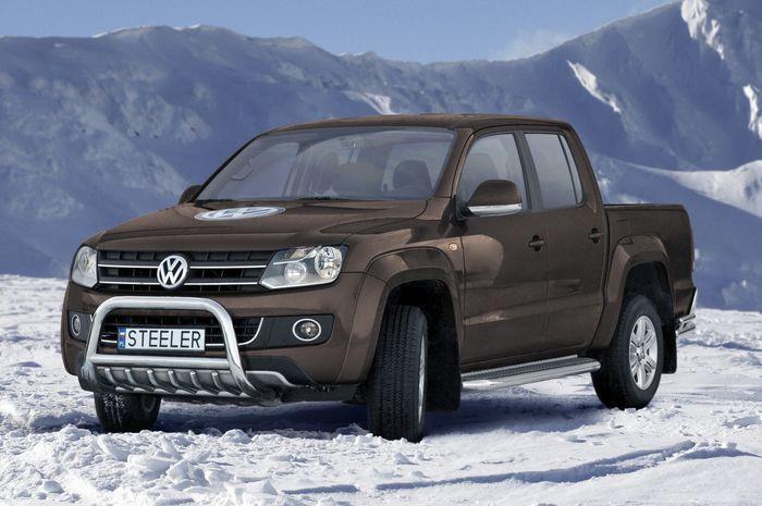 Frontschutzbügel Kuhfänger Bullfänger VW Amarok 2010-2016, Steelbar QRU 70mm