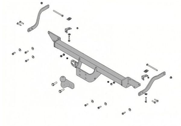 Anhängelast erhöhen Citroen Jumper X250 Kasten u. Bus Typ 250L, 88-116kW, 06. 2006- (feststehende AHK incl. Gutachten)