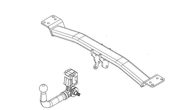 Anhängelast erhöhen Fiat 500 X, Variante AXA1B, 09. 2014- (vertikal abnehmbare AHK incl. Gutachten)