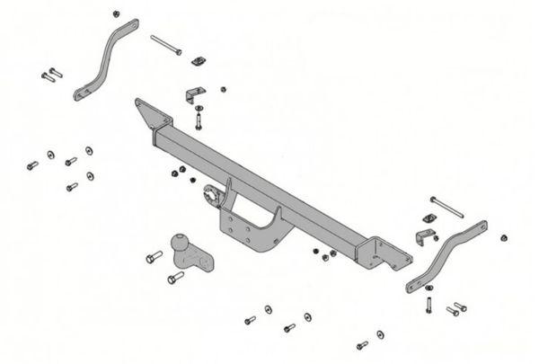 Anhängelast erhöhen Fiat Ducato X250, Kasten u. Bus Typ 250L, 88-116kW, 06. 2006- (feststehende AHK incl. Gutachten)