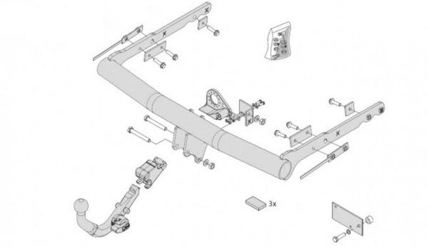 Anhängelast erhöhen Ford Galaxy Typ WA6, 05. 2006- (horizontal abnehmbare AHK incl. Gutachten)